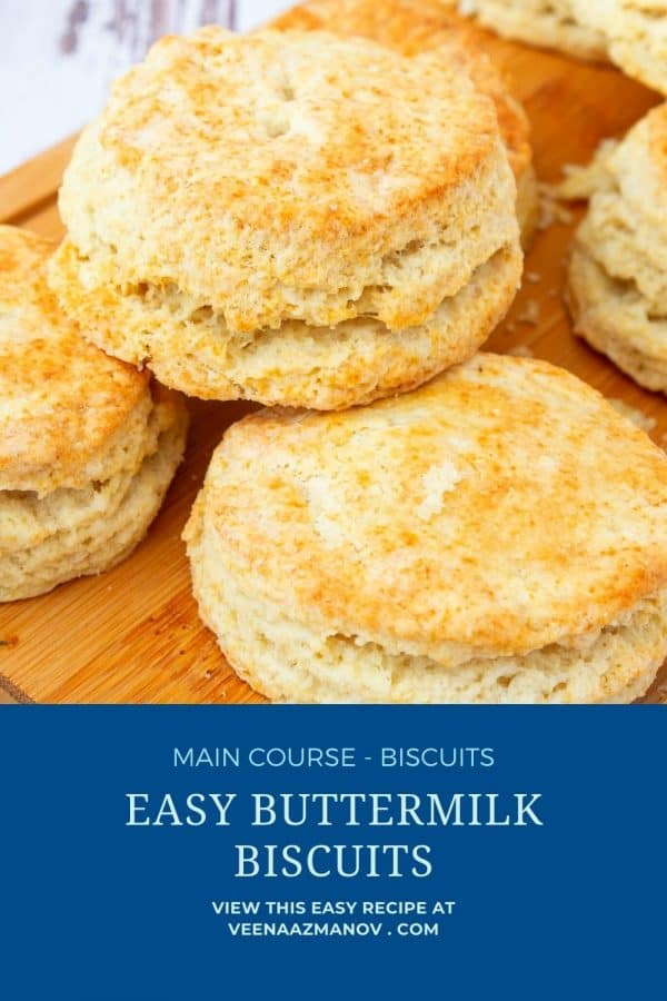 Pinterest image for biscuits with buttermilk.