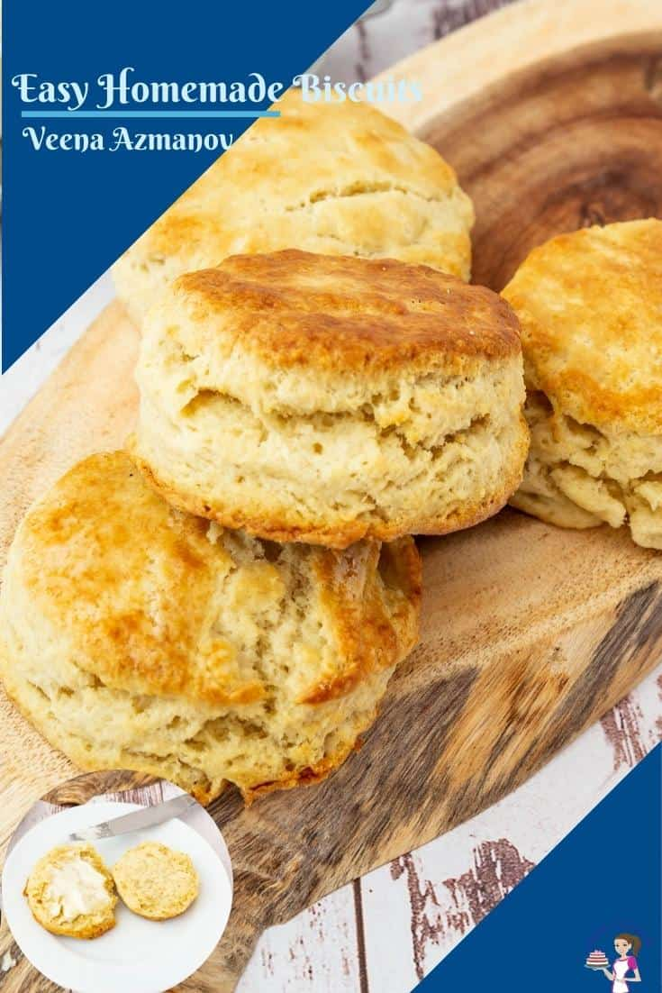 These homemade biscuits are buttery, flaky, and made from scratch in just about 15 minutes. Perfect to serve for breakfast with eggs, or some butter and jam but absolutely perfect with soups in winter #biscuits #homemade #classicbiscuits #homemadebiscuits #biscuitsfromscratch #biscuitswithsoup #15minbisuits via @Veenaazmanov