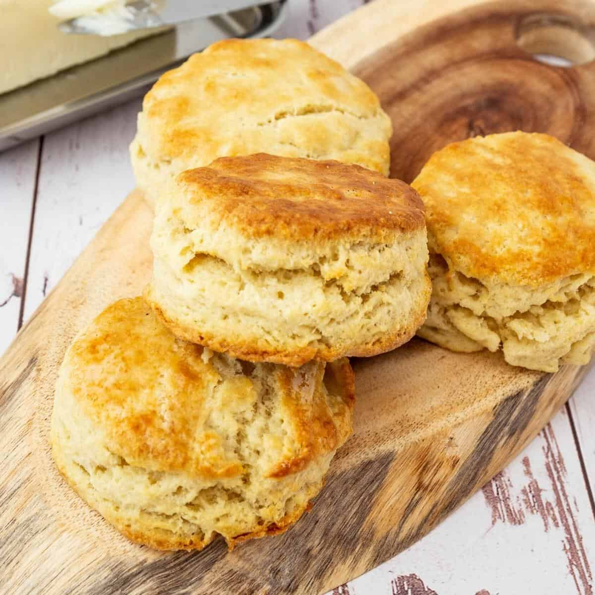 Biscuits on a table.