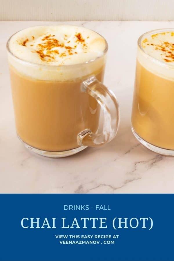 Pinterest image for chai spice latte.