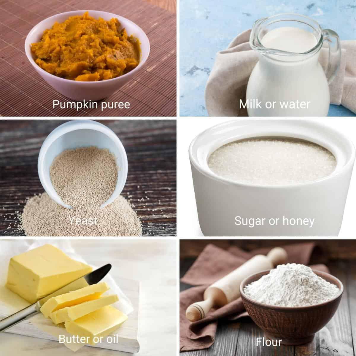 Ingredients for pumpkin crescents.