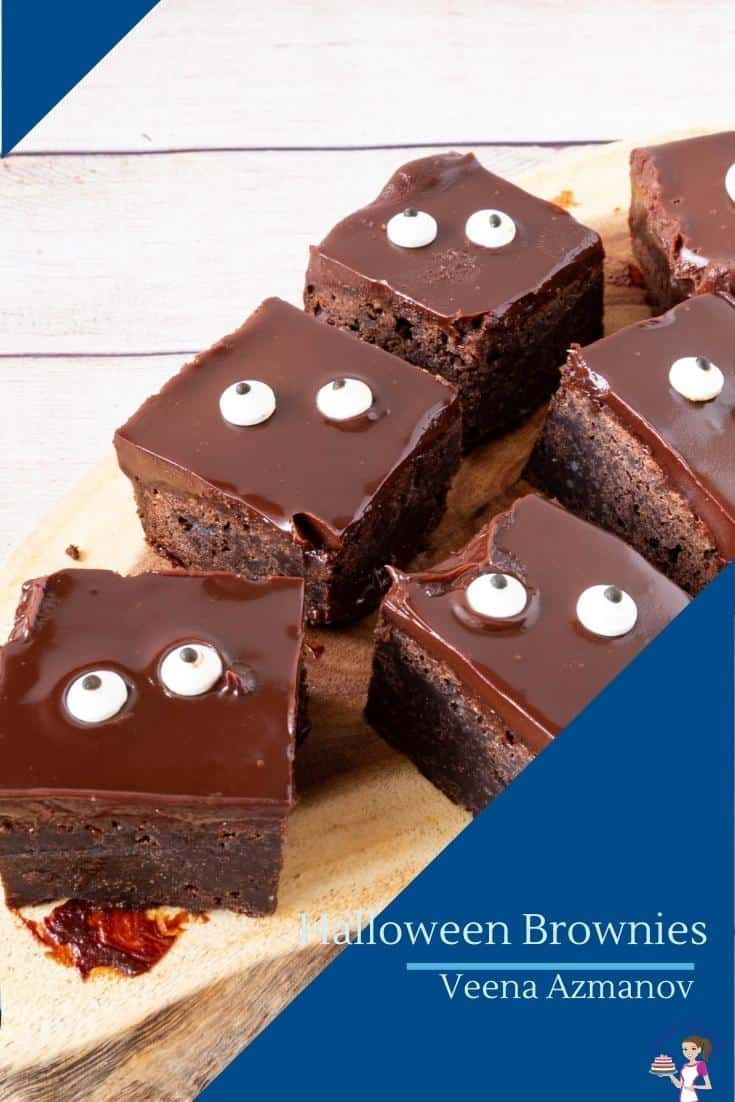 Brownies with monster eyes