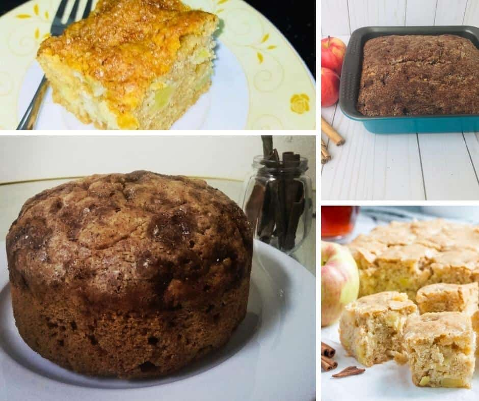 A collage of image for apple cake