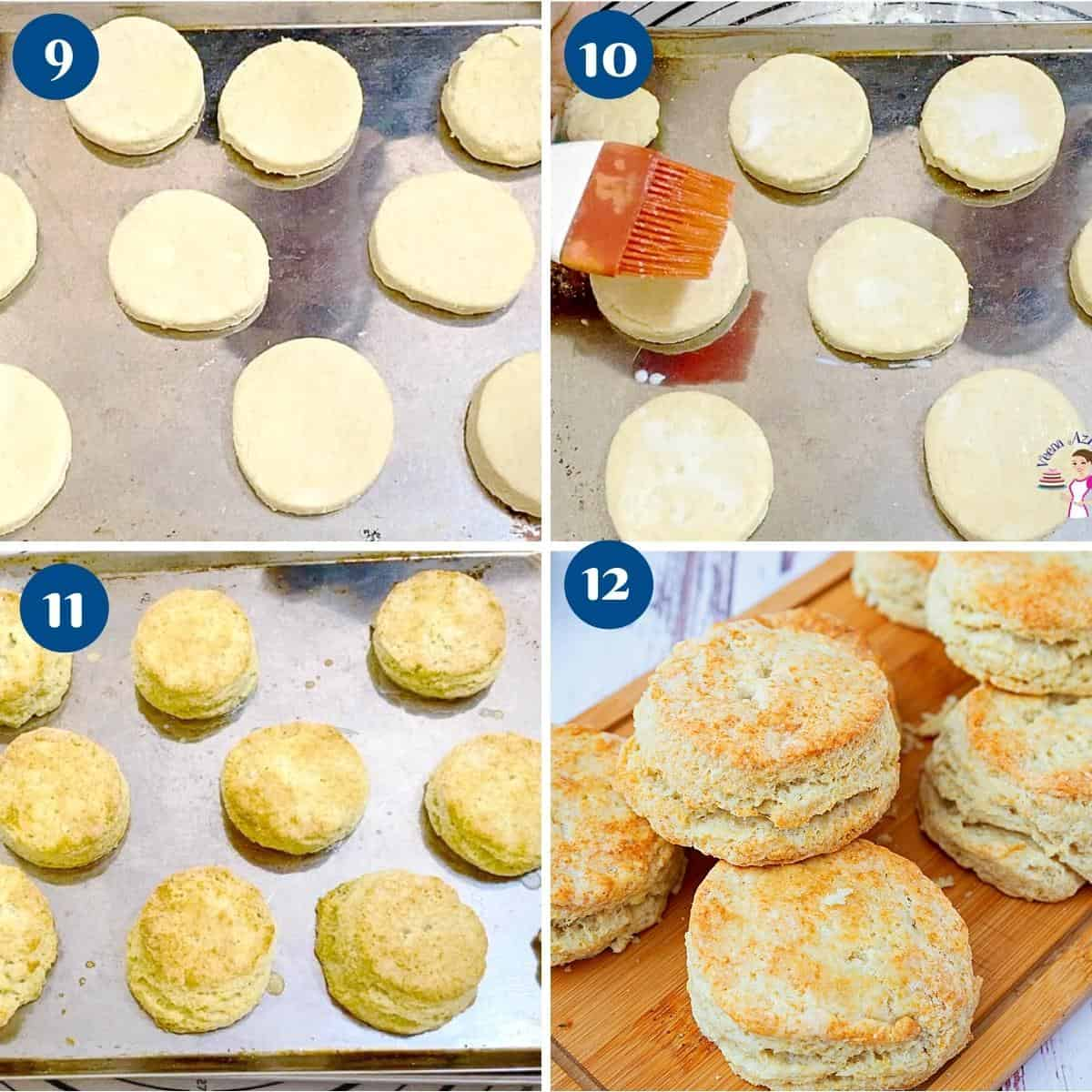 Progress pictures baking the biscuits.