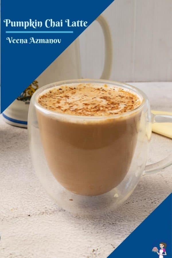 A pinterest image for pumpkin latte