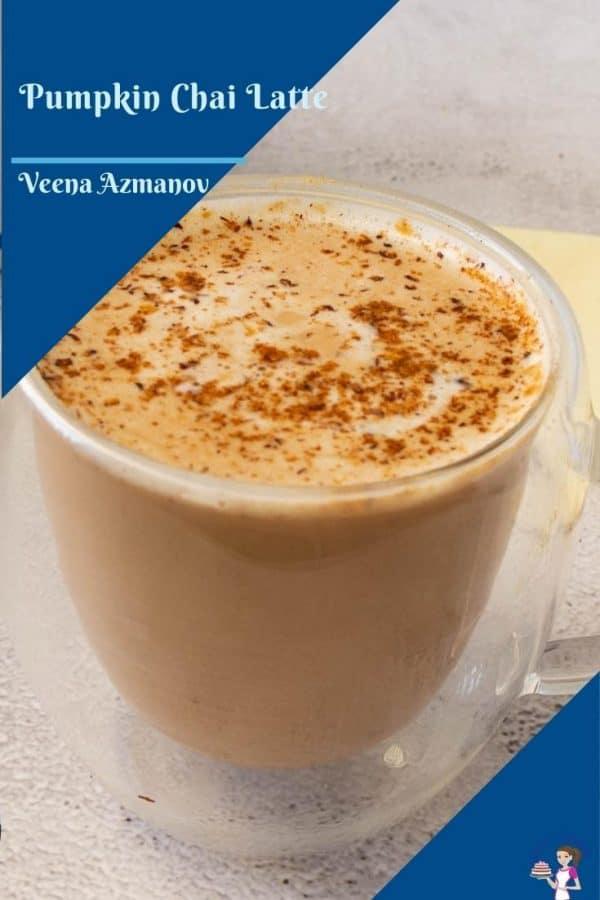 A Pinterest image for pumpkin chai latte
