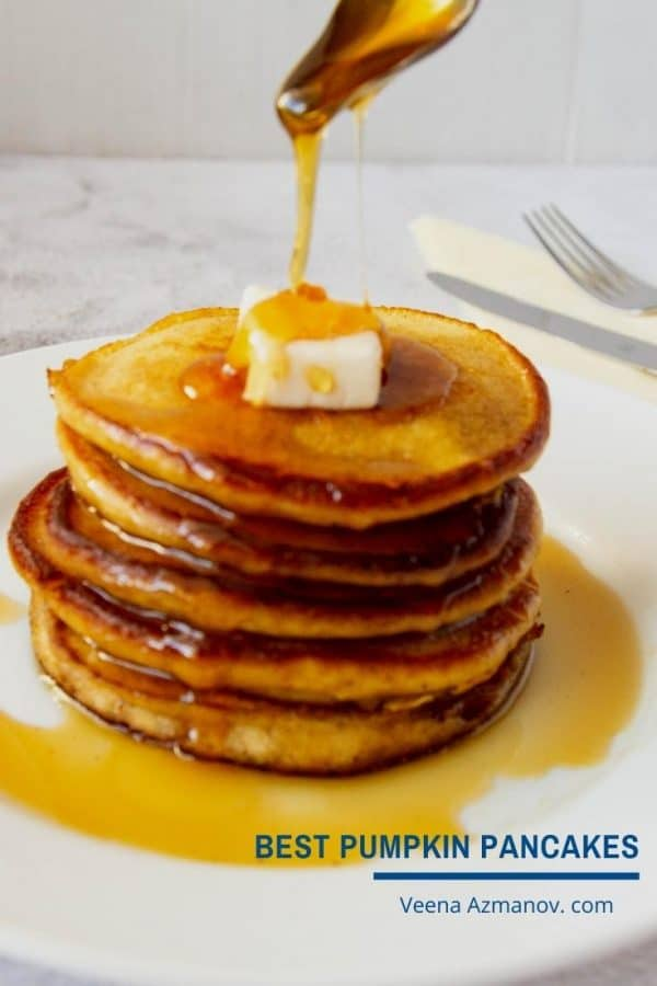 a pinterest image for pancakes