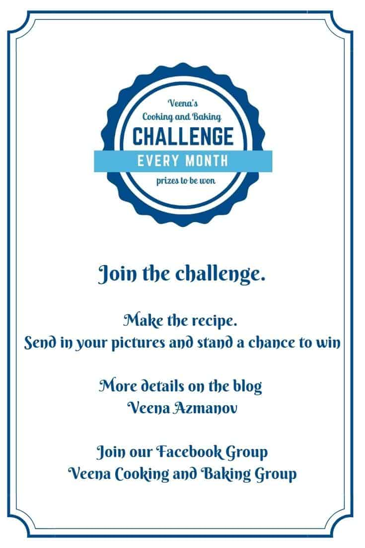Pinterest image for cooking and baking challenge