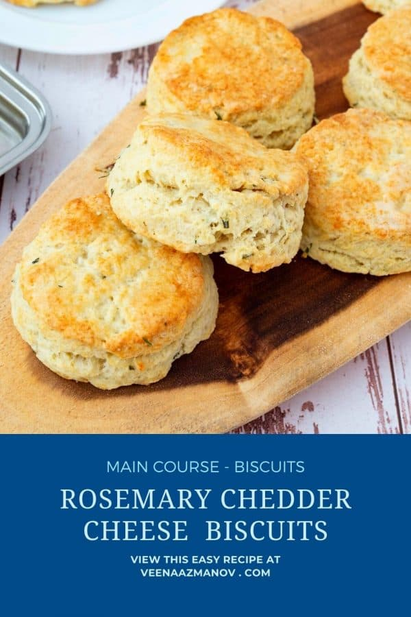 Pinterest image for cheddar biscuis.