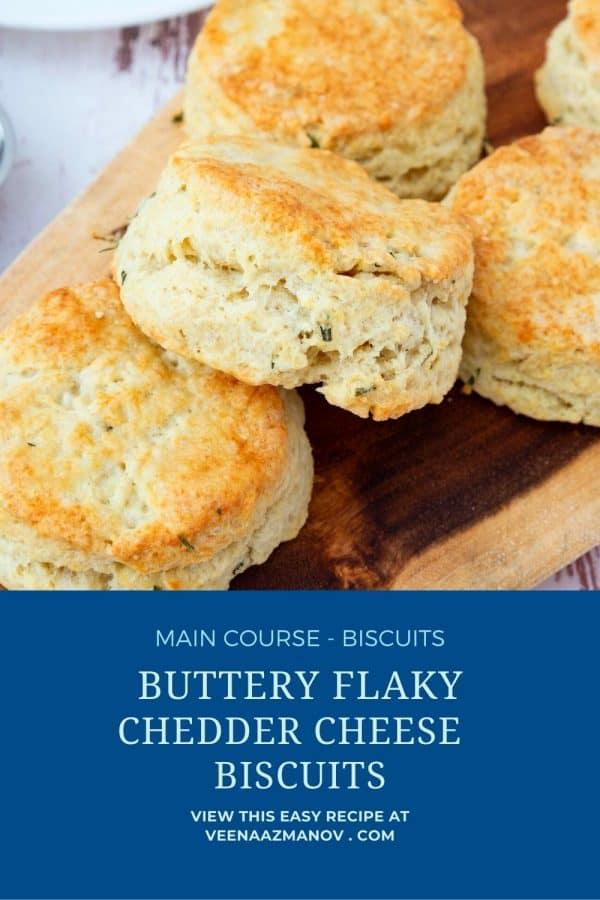 Pinterest image for cheddar biscuits.