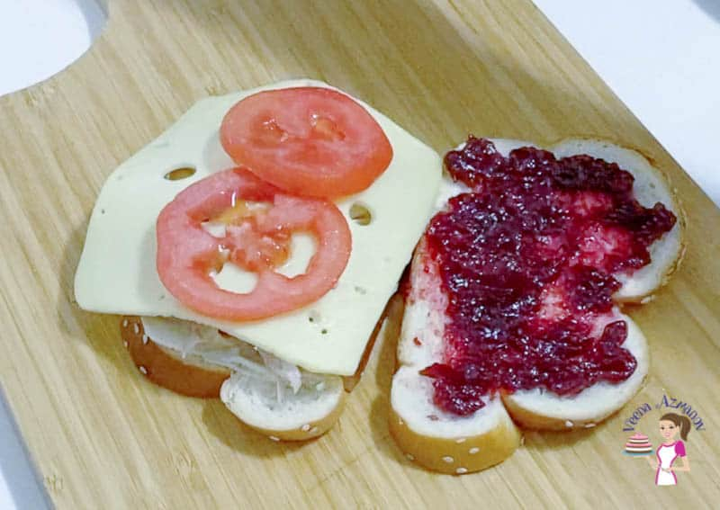 An open sandwich with tomatoes