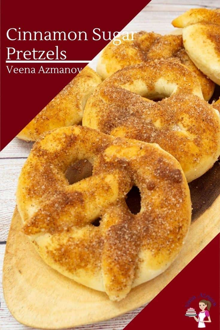 Give your classic pretzels a whole new look. These cinnamon sugar pretzels are soft, chewy, and messy. Loaded with cinnamon and sugar, they are boiled in water before baking #pretzels #baking #cinnamonsugar #cinnamonsugarpretzels #pretzelswithsugar #sugarpretzles #howtopretzels via @Veenaazmanov