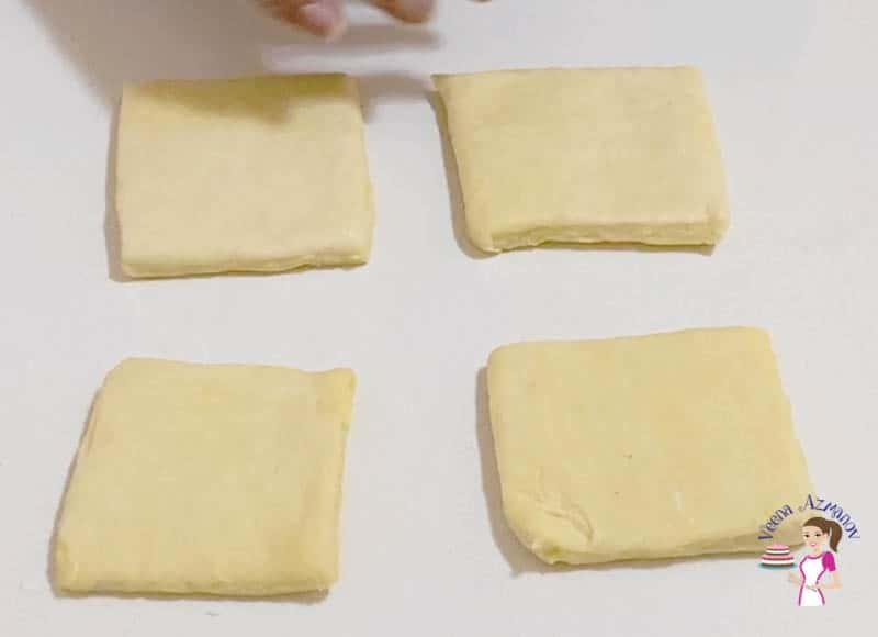 Shaping the danish apricot puffs