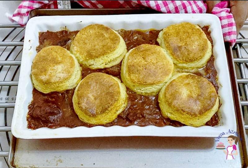 Bake the pot pie until light and golden