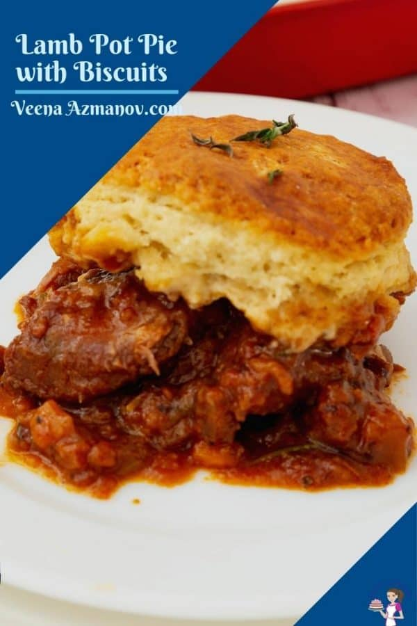 Pinterest image for lamb with biscuits