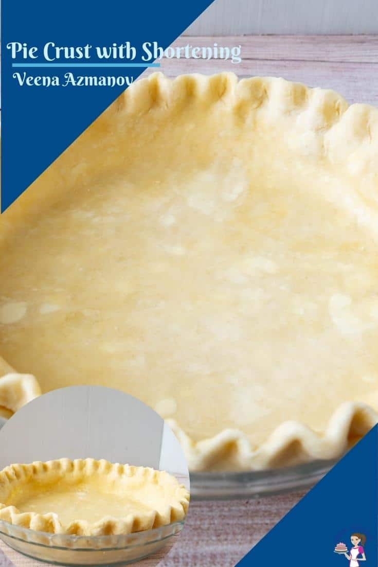This pie crust with shortening and butter is my mom's favorite method of making pie. Rich, buttery, and flaky crust for all your pies savory or sweet #piecrust #piecrustrecipe #piecrustwithshortening #howtopiecrust #bakedfromscratch #easypiecrust #flakypiecrust #allbutterpecrust via @Veenaazmanov