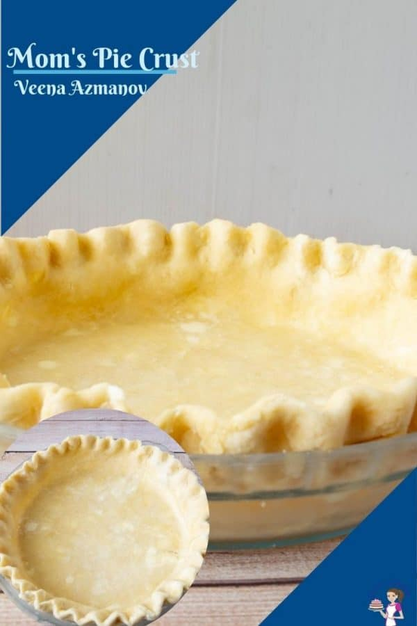 Pinterest image for crust made with shortening