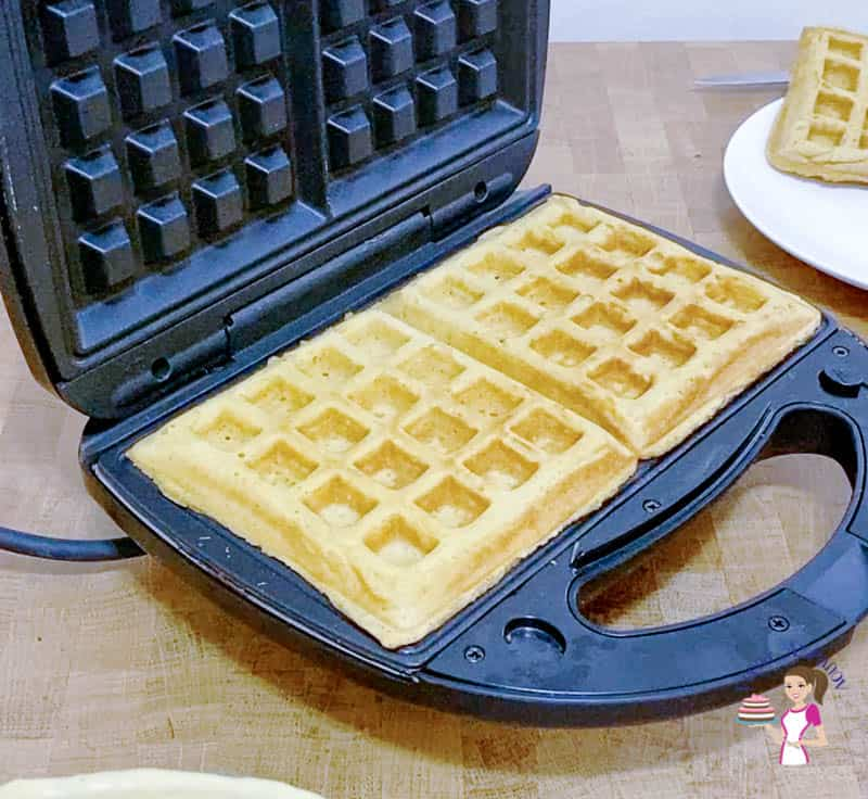Cook until the waffles are lightly brown