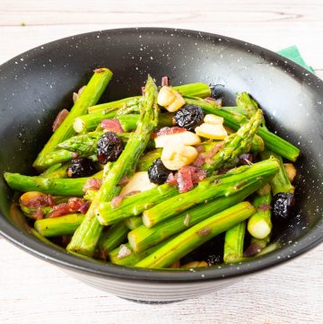 Asparagus on a bowl