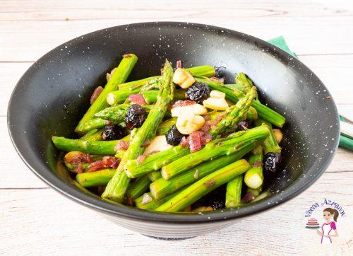 Asparagus on a bowl