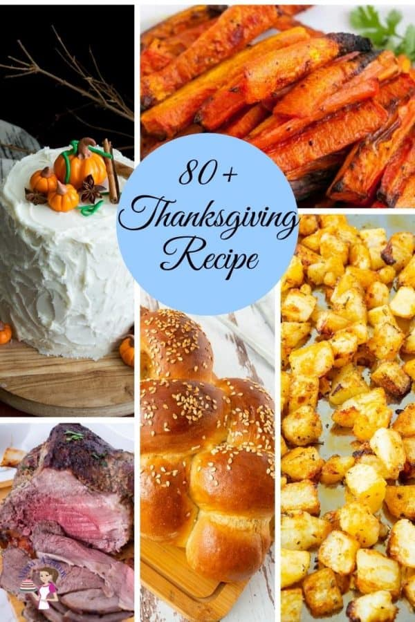 A collage of fall recipes for thanksigiving