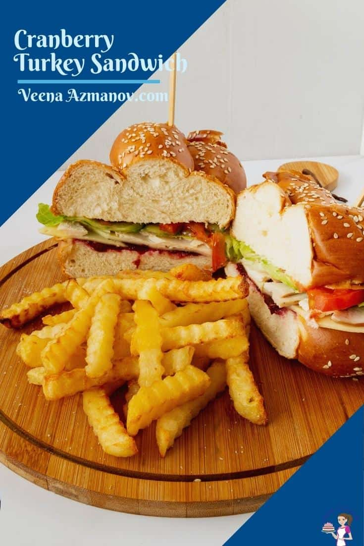 Pinterest Image for Turkey Cranberry Sandwich