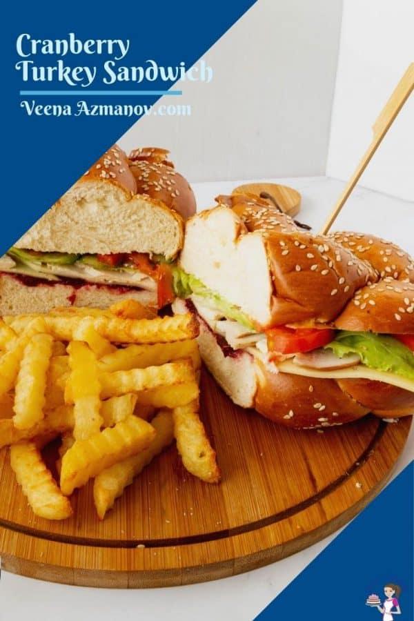 Pinterest image for Turkey Sandwich
