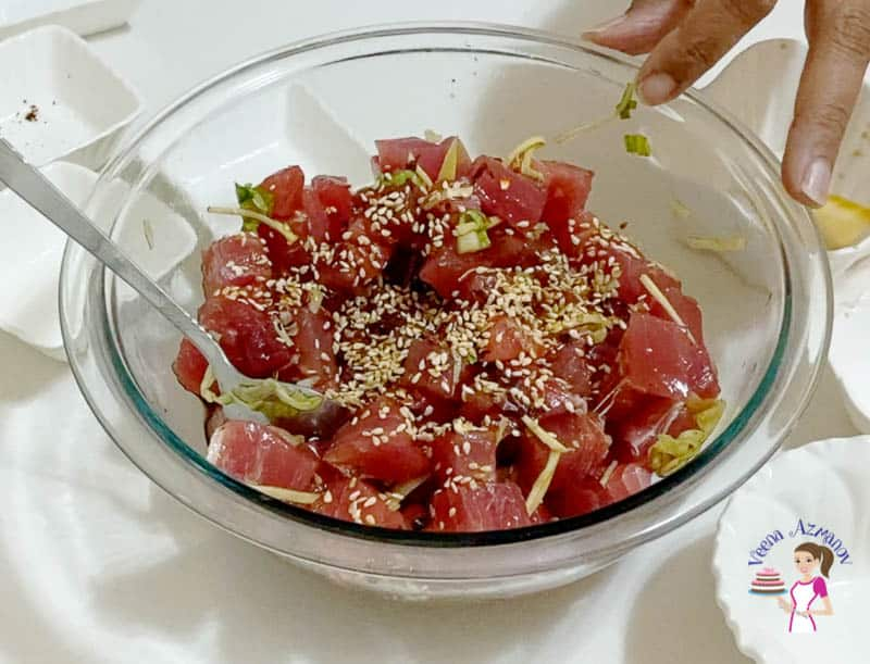 Ahi Tuna Poke Bowl Progress Pictures5