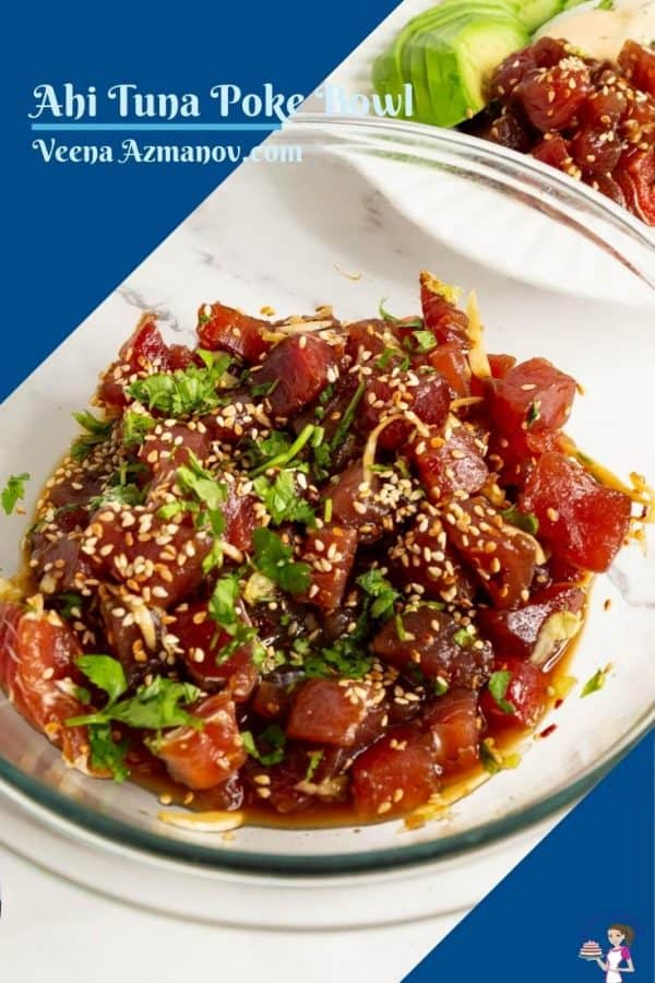 Pinterest image for tuna in a bowl