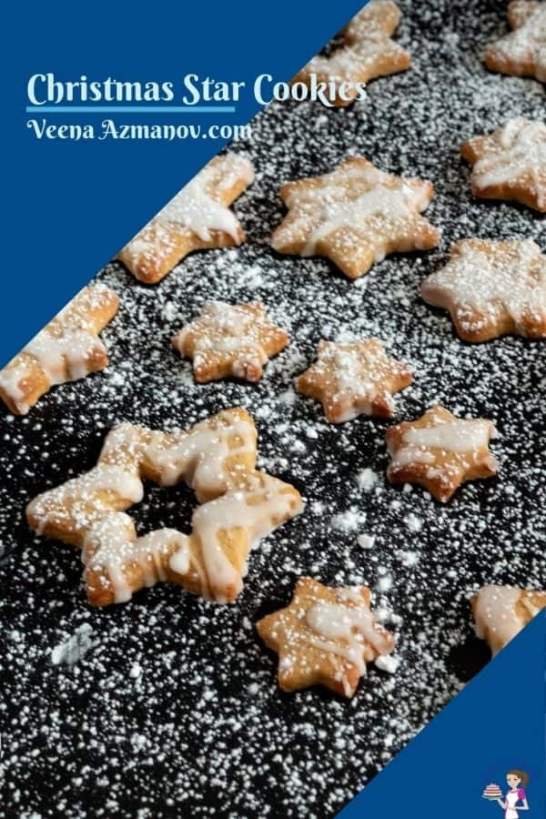 Pinterest image for Christmas Star Cookies