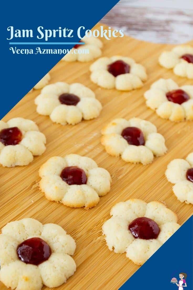 Pinterest image for spritz cookies