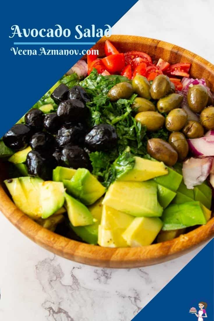 Pinterest image for salad with avocado