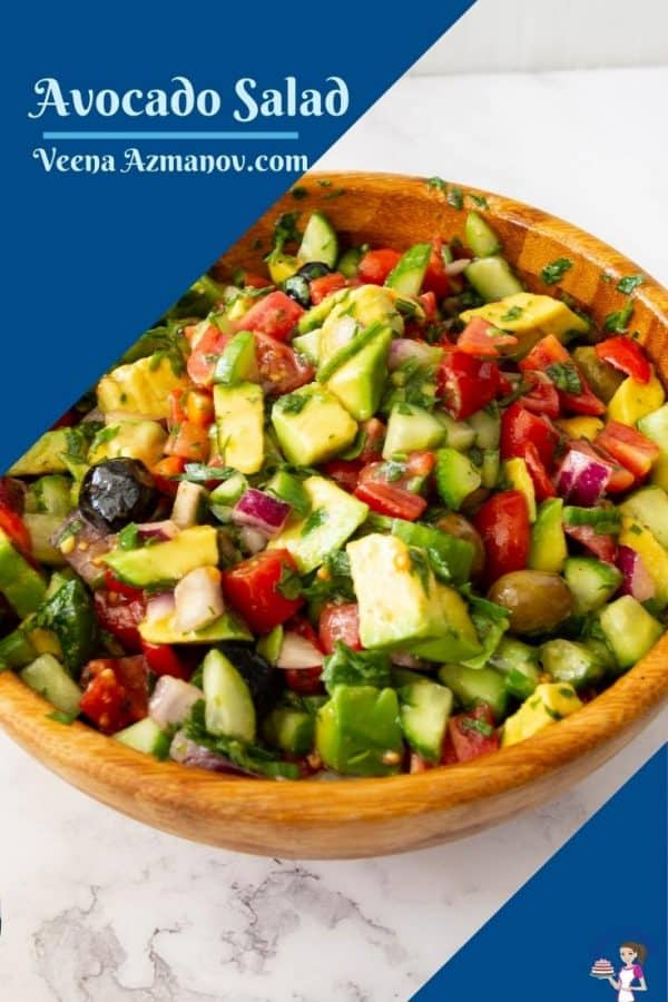 Pinterest image for avocado salad
