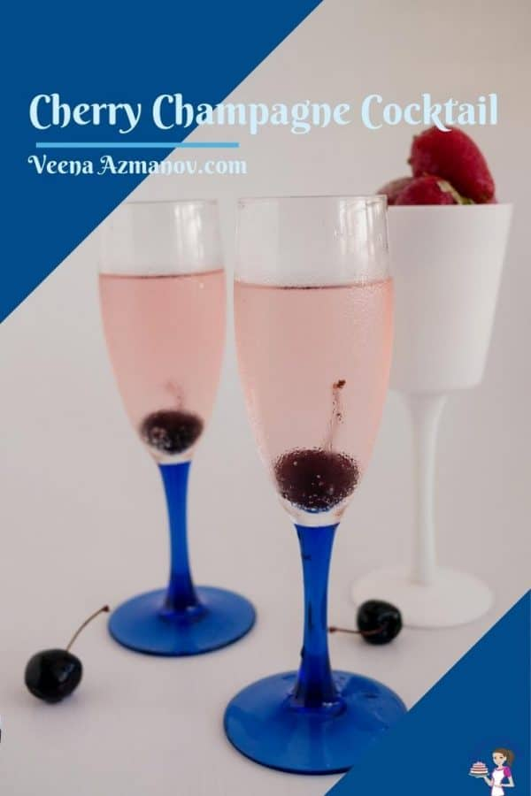 Pinterest image for champagne cocktail