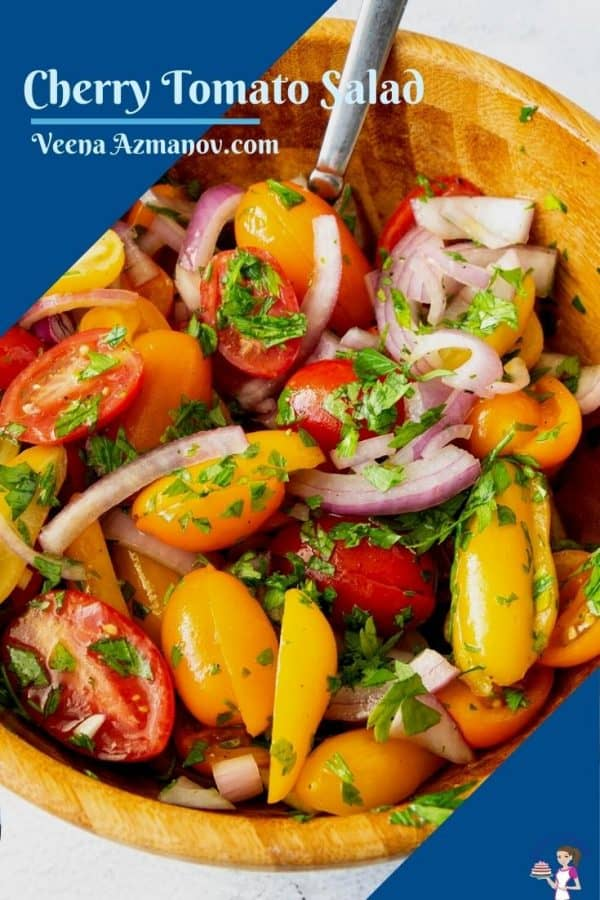 Pinterest image for tomato salad