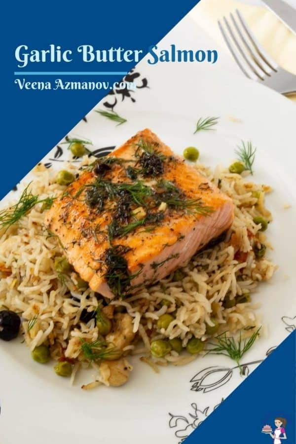 Pinterest image for pan fried salmon