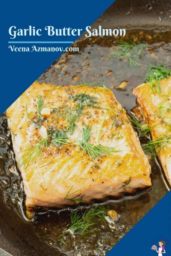 Pinterst image for pan fried salmon