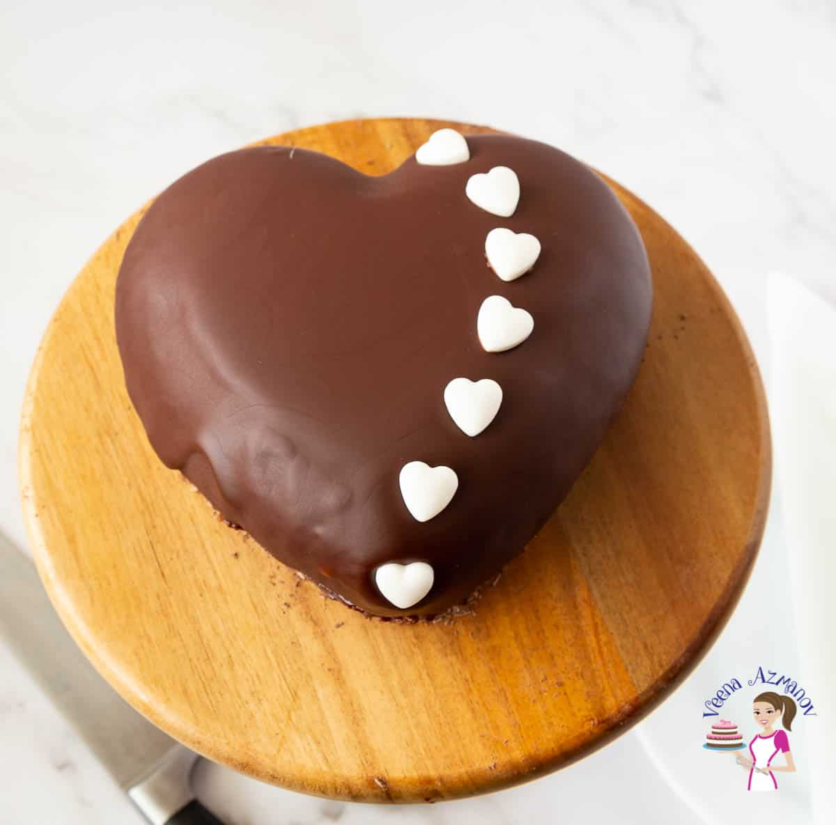 Chocolate Mousse Heart Cake