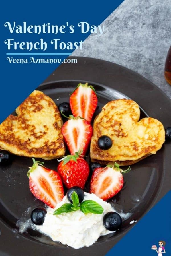 Pinterest image for heart French toast