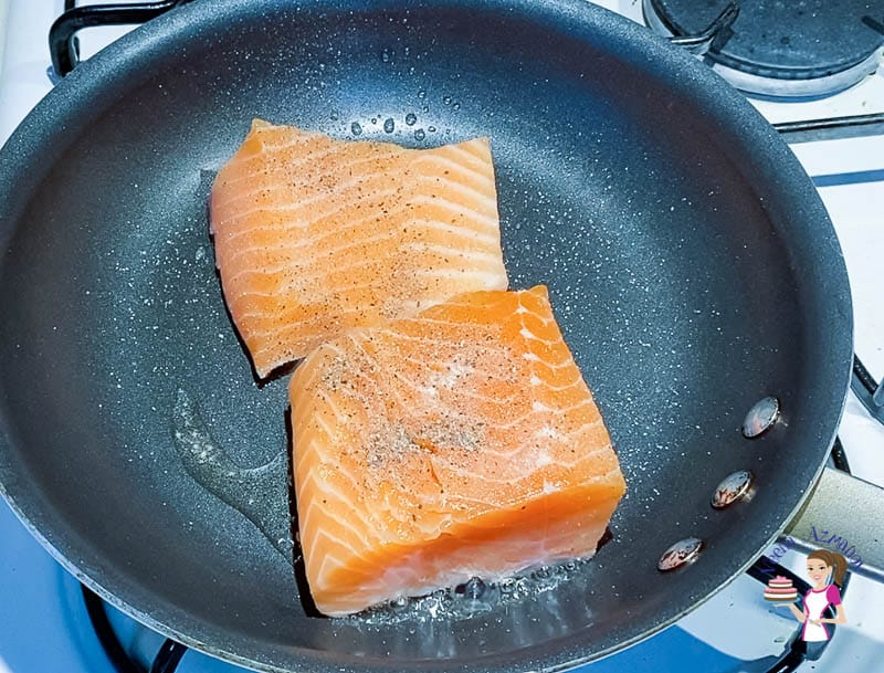 Sear the Salmon in the frying pan