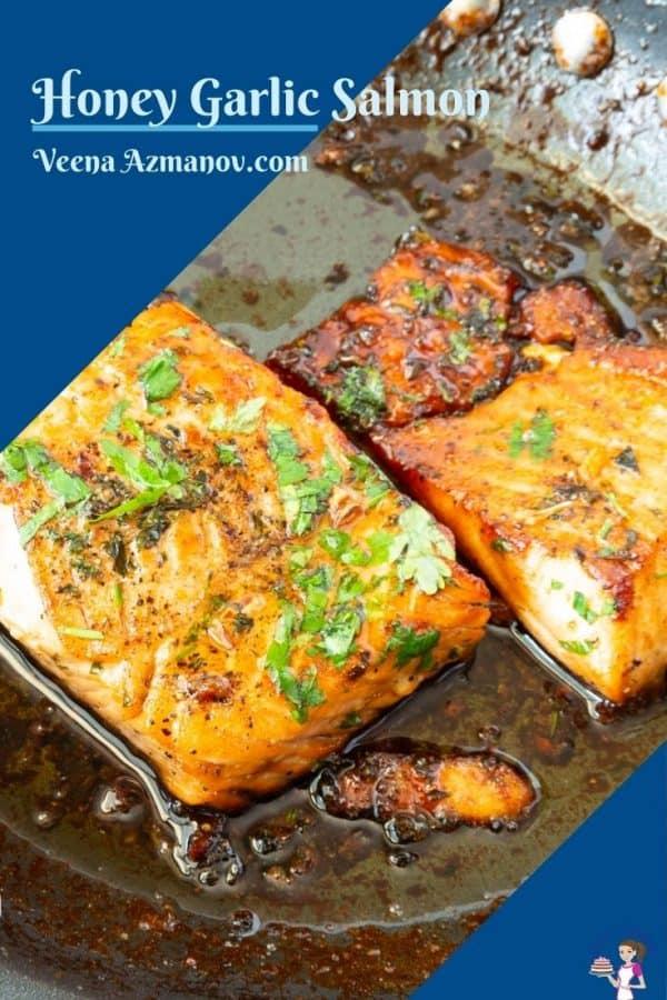 Pinterest image for skillet salmon