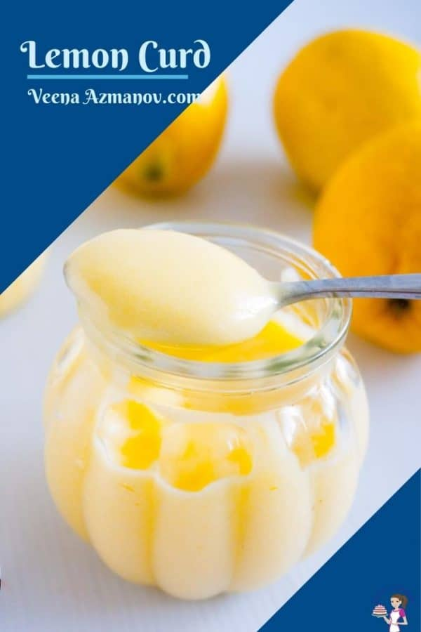 Pinterest image for lemon curd