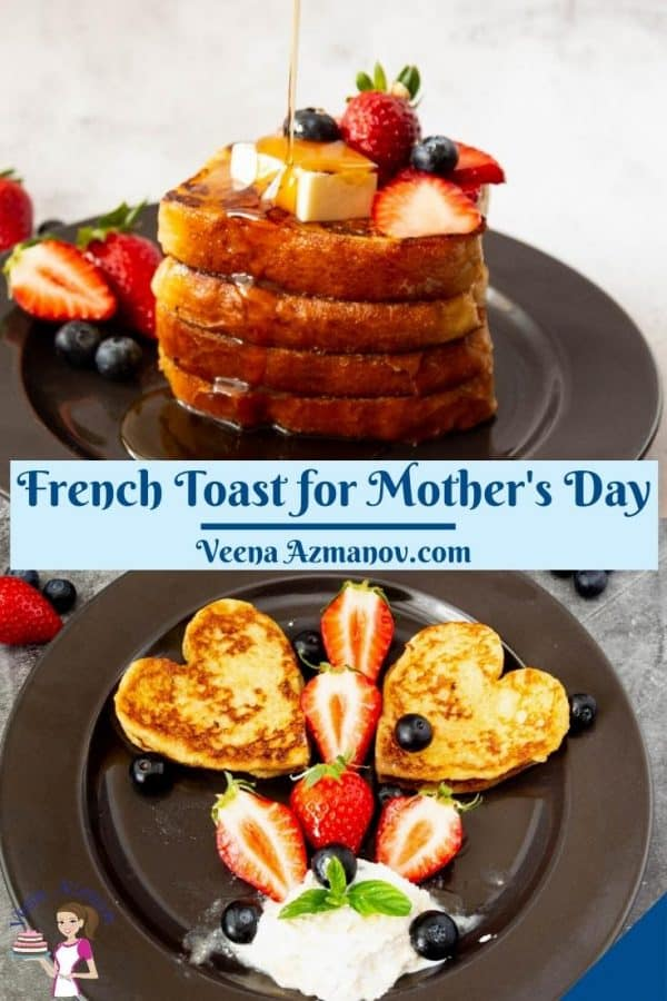 Pinterest image for French Toast on Mothers Day.