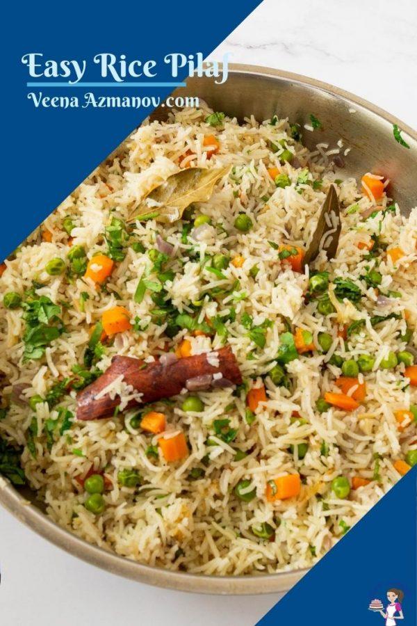 Pinterest image for rice pilaf