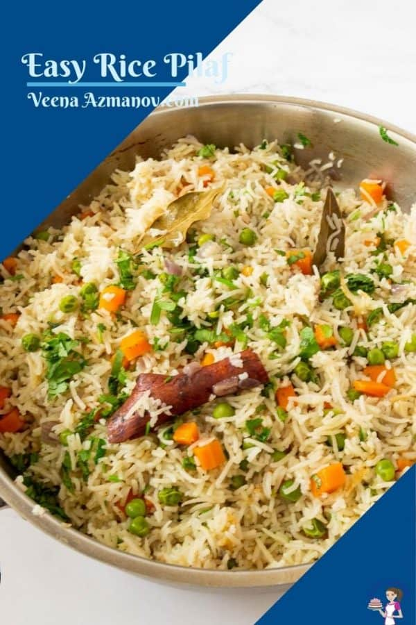 Pinterest image for rice with veggies