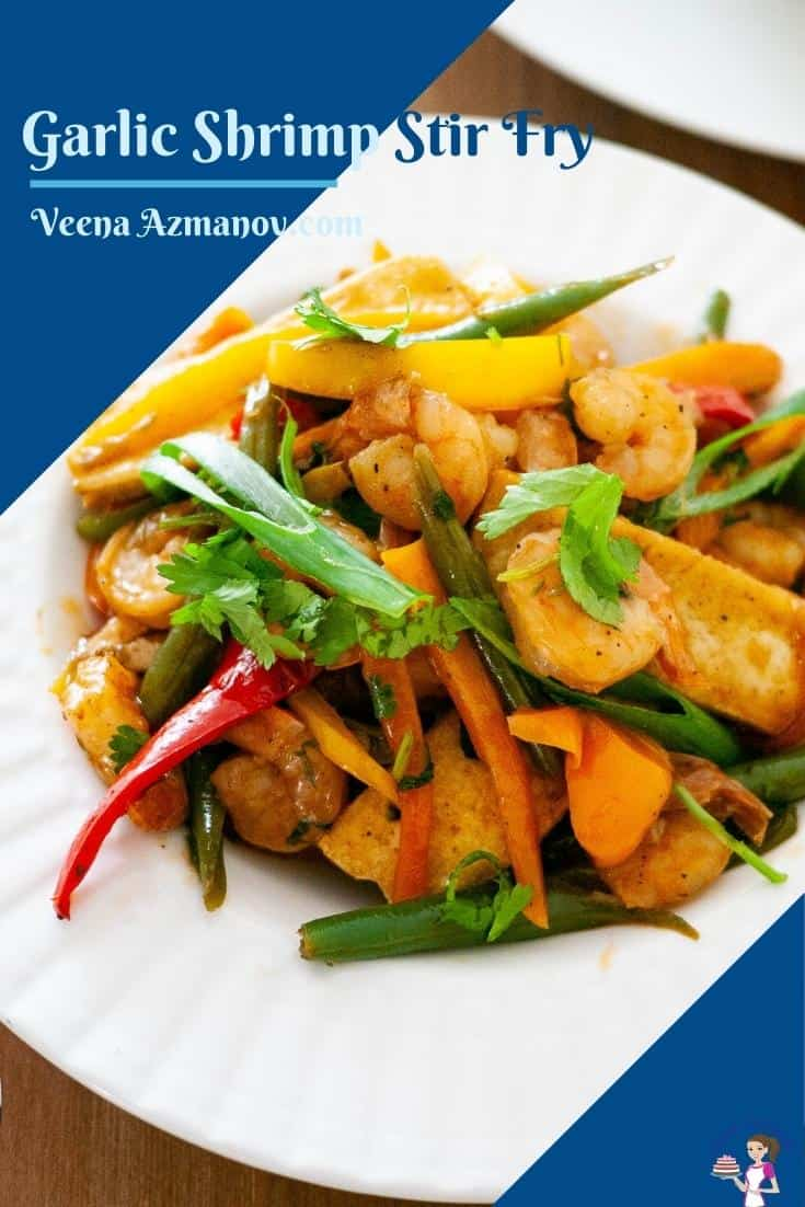Pinterest image for shrimp stir fry