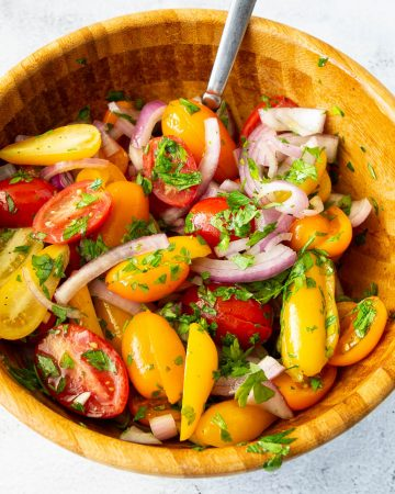 Tomato salad in a bowl