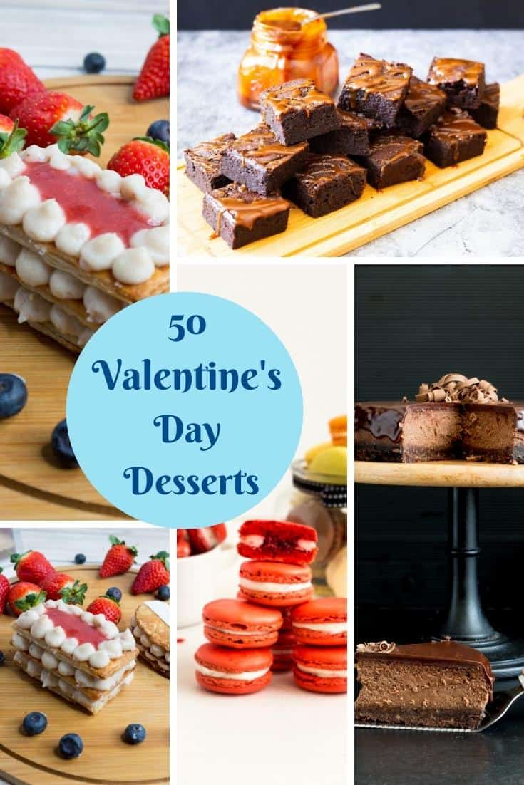 Pinterest image for Valentines Day Desserts