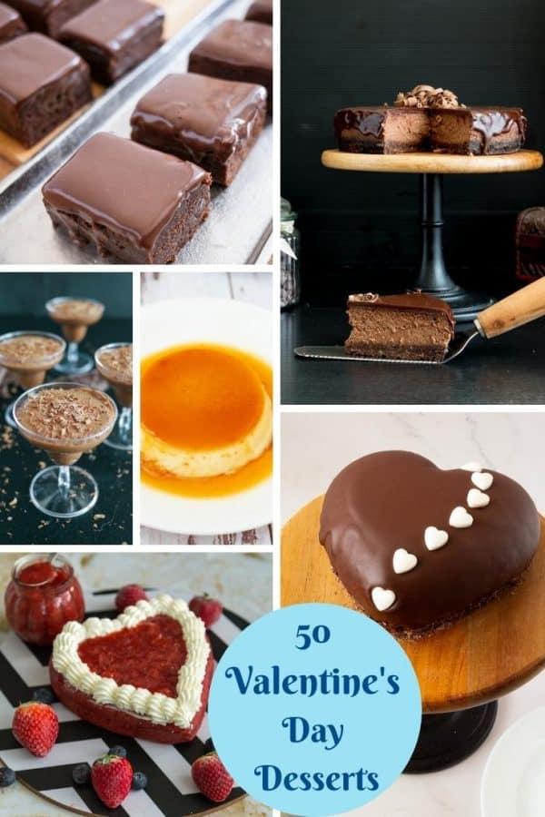 Pinterest image for Valentines Day Desserts