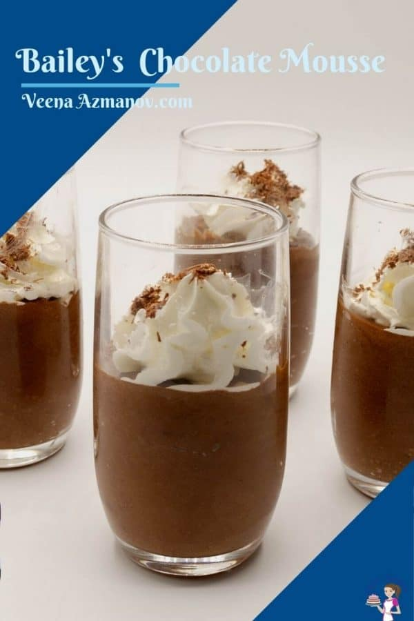 Pinterest image for chocolate mousse